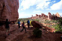 hiking in Arches NP