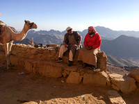 Bedouin camel guides on Mt. Sinai
