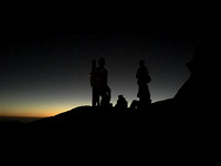 waiting for sunrise at the summit of Mt. Sinai