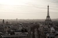 Paris skyline from the top of the Arc d' Triumph
