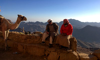 Bedouin guides at the tea house on Mt. Sinai