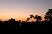 sunset over Valley of the Queens, Luxor